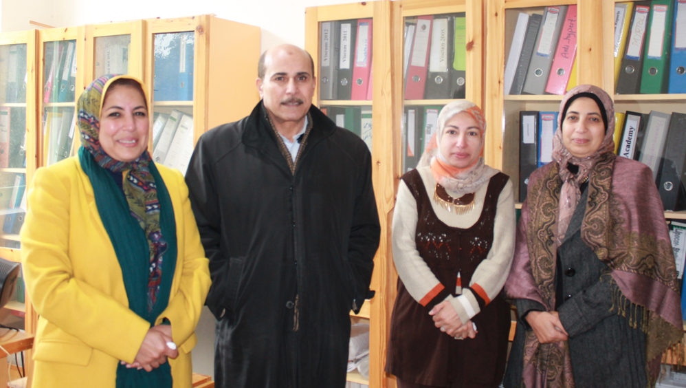 Dr. Ahmed Ismail, Head of the Biomedical Research Department, together with his colleagues.
