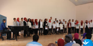 Pupils singing at the summer choir