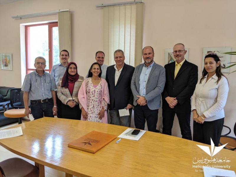 جامعة هليوبوليس توقع بروتوكول تعاون مع مركز العلوم والبحوث في سلوفينيا