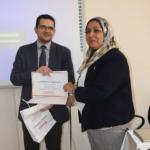 د. أ.د/ جيهان فؤاد من وكيل الكلية لشئون الطلاب (أ.م.د. أحمد أبو السعود)